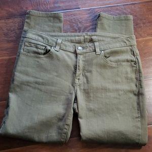 Michael Kors Skinny Olive Green Jeans